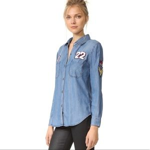 Rails Patch Chambray Denim Shirt